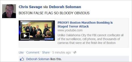 Savage 13 Boston false flag obvious