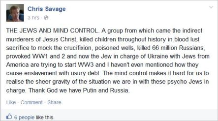 Savage 42 Jews Russia Putin