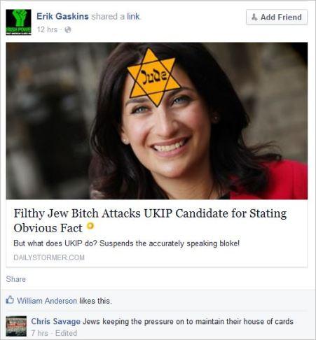 Savage 48 filthy jew bitch post neo nazi