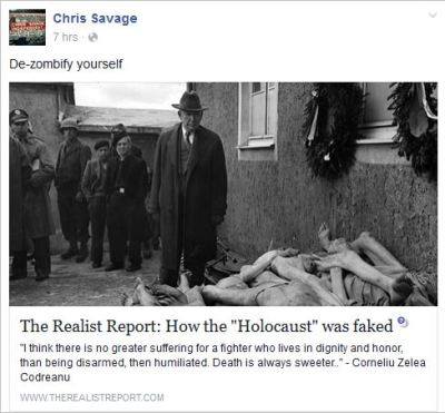 Savage 52 Holocaust faked