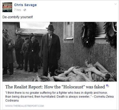 Savage 52 Holocaust faked