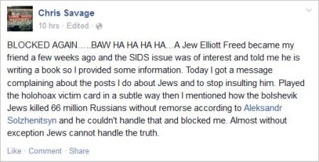 Savage 53 blocked by Jew