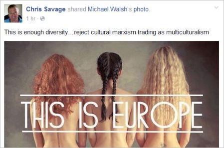 Savage 65 white supremacist