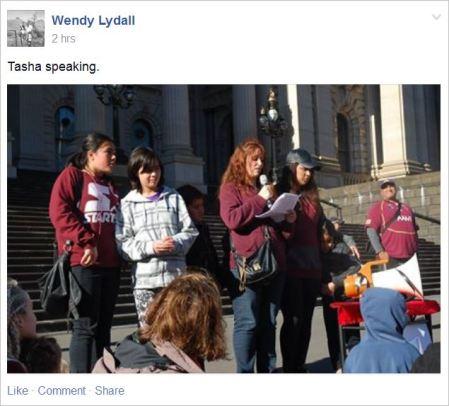 Tasha 25 Melbourne protest speaker Lydall