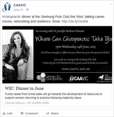 JBF 59 CAA VIC dinner speaker June 24 2015