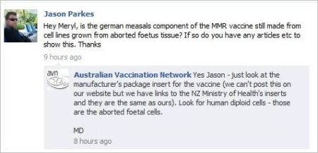Parkes 10 September 8 2011 rubella info from Dorey AVN aborted foetuses