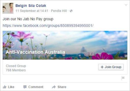 Belgin 73 antivax australia share on Sydney protest2