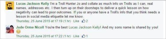 Brett Smith 3 Luca Kelly troll hunter turn up on doorsteps