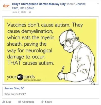 Le Coz 33 Ohm vaccines cause autism demyelination