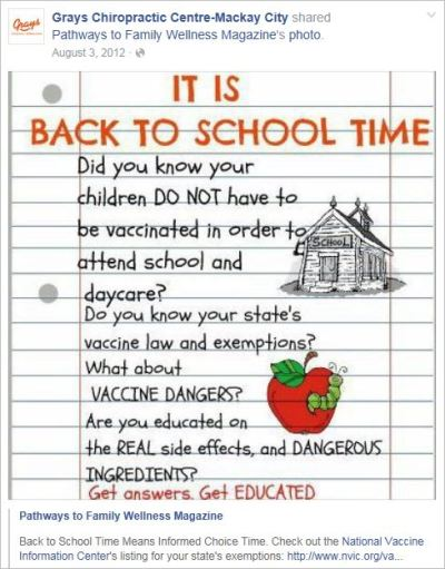 Le Coz 41 PTFW NVIC vaccine dangers back to school