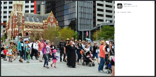 Protest2 9 Brisbane nazi salute