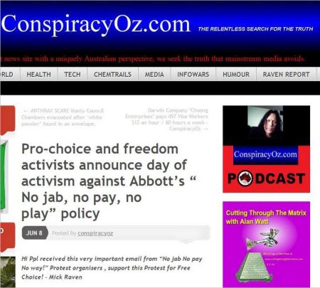 Bialkowska 3 name removed from conspiracy oz protest PR October