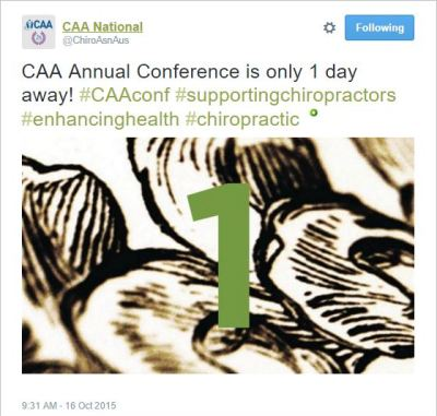 CAA 17 Conference tweet Oct 16