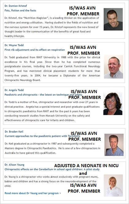 CAA 19 2015 speakers AVN members and Young sneak into hospitals