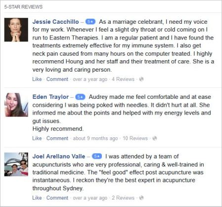 Mong 36 Bondi Acupuncture testimonials