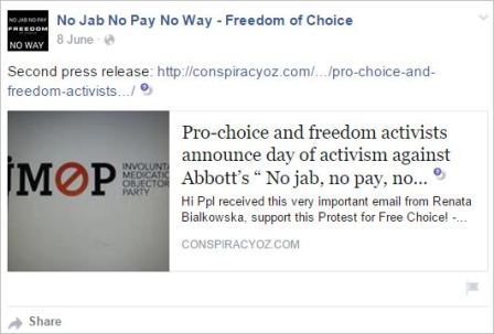 Protest 114 June 8 post PR conspiracy oz dot com Bialkowska