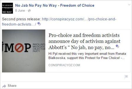 Protest 114 June 8 post PR conspiracy oz dot com Bialkowska