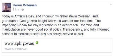 Coleman 39 NJNP armistice day