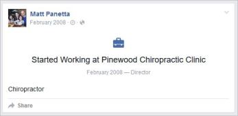 Panetta 1 profile chiro event on wall
