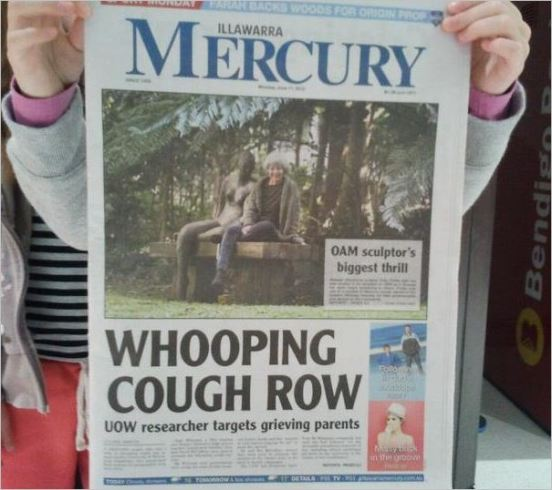 Wilyman Illawarra Mercury front page June 11 2012