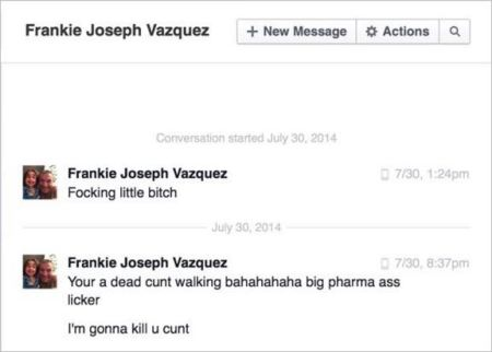 Vazquez 118 death threat PM to Martin