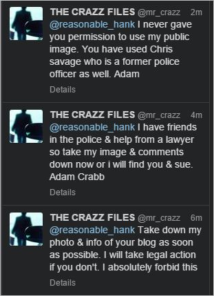 Crabb 29 tweets threat to sue