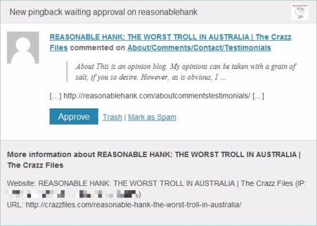 Crabb 35 RH worst troll pingback email pixelated