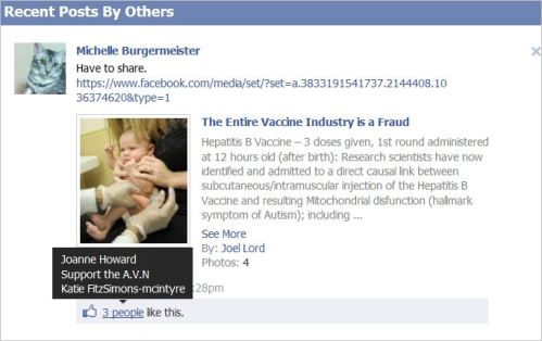 Howard 3 likes AVN post the Vaccine Industry is a Fraud